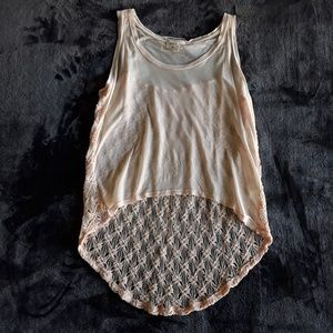 Cloth & Stone | NWOT Blush Knit High low Tank Top